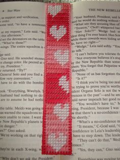 Drifting Hearts Bookmark in Plastic Canvas by MastersCreations, $8.00
