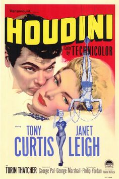 """""""HOUDINI"""" starring Tony Curtis and Janet Leigh (1953)."""
