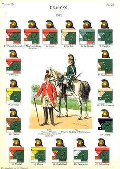 Dragons. 1762 Uniformes de I'Armee Francaise 1690-1894