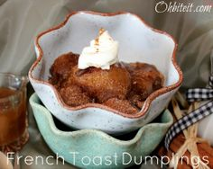 """~French Toast Dumplings…Simmered in Maple Syrup!---Can everyone say """"Good Morning Sugar Rush, lol."""