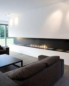 electric fireplace insert on a shelf.   I n t e r i o r ...