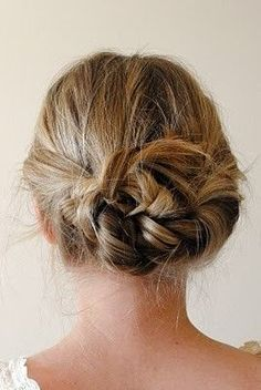 Do It To It / Braid pigtails going away from face. Tie in knot. Bobby pin loose ends. Love it! another hair idea for me! :)