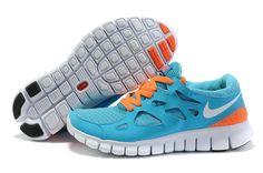 Damen Nike Free Run 2 Schuhe - blau