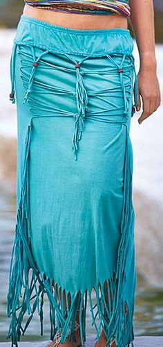 Boho Beaded Skirt ♥ Can I just wear this and be on some sort of isolated island and be a hippie? ok awesome :)