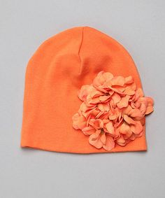 This sweet beanie adds something special to any ensemble. Made of soft, stretchy cotton, it keeps little noggins warm and comfortable. Samhain, Geraniums, Halloween Kids, Orange Clothes, Beanie, Daily Deals, Hats, Collection, Hat