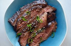 Kick up the flavor of tender flank steak with the ultimate marinade starring fresh garlic, ginger, honey and soy sauce.