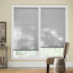 Home Decorators Collection 44 in. W x 48 in. L Misty Gray Cordless Light Filtering Horizontal Cellular Shade