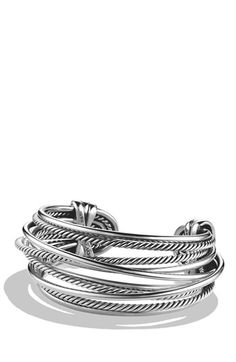 David Yurman 'Crossover' Wide Cuff available at #Nordstrom