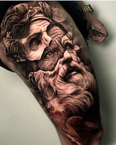 tattoo zeus / tattoo zeus _ tattoo zeus mythology _ tattoo zeus preto e cinza _ tattoo zeus poseidon _ tattoo zeus greek gods _ tattoo zeus design _ tattoo zeus realismo _ tattoo zeus antebraço Zeus Tattoo, Statue Tattoo, Poseidon Tattoo, Arm Tattoo, Sick Tattoo, Tattoo Ink, Hercules Tattoo, God Tattoos, Body Art Tattoos