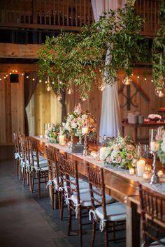 greenery chandeliers   Declare Photography #wedding