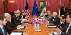 P5+1 negotiators meet with their Iranian counterparts during nuclear negotiations in Lausanne, Switzerland. (Photo: US Department of State)