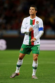 1e93ccacf Cristiano Ronaldo Photos - Cristiano Ronaldo of Portugal reacts during the 2010  FIFA World Cup South