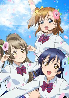 Honoka la chica pan,Kotori la cotorra y umi love arrow shooter xD Anime Best Friends, We Are Best Friends, Anime Love, Manga Anime, Anime Art, Love Live School Idol Project, Anime Friendship, Otaku, Cute Anime Character
