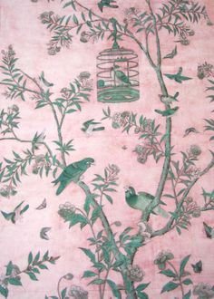 get the De Gournay and Gracie chinoiserie wallpaper look for less - cheaper alternatives! Chinese Wallpaper, Bird Wallpaper, Fabric Wallpaper, Pattern Wallpaper, Textures Patterns, Print Patterns, Pattern Designs, Tapete Floral, Poster Mural