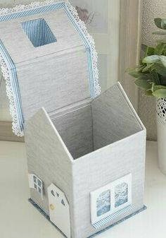 16 Projects To Repurpose And Reuse Cardboard Boxes - Upcycled Crafts Cardboard Toys, Cardboard Furniture, Cardboard Playhouse, Box Houses, Paper Houses, Home Crafts, Diy And Crafts, Paper Crafts, Tissue Box Covers