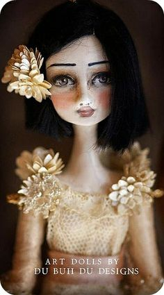 Doll Ornaments by du_buh_du_designs, via Flickr