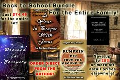 Two weeks left of this Back to School #book #bundle!  As much as %25 off other online retail prices for the same books sold separately!  Paypal button is at the end of the promo blog post as you will ONLY get this deal by ordering directly from ME, the author!  If you don't have paypal, use the credit card option on the paypal purchase screen instead.  Remember, this #deal is ends on October 31st!