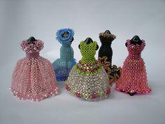 Beaded miniature dresses | Flickr - Photo Sharing!