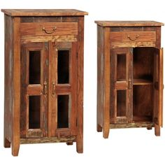 Nantucket 1 Drawer 4 Glass Cabinet