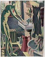 Dallaire, Jean - Femme à sa toilette - Musée des Beaux-Arts du Canada, Ottawa Art Inuit, Ottawa, Canada, Artwork, Painting, Canadian Art, Fine Arts Museum, Fine Art Paintings, Contemporary Art