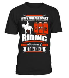 BeeTee: Weekend Forecast For Horse Riding Girl T-Shirt