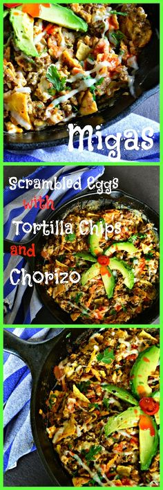 This is How I Cook: Migas Scrambled Eggs with Tortilla Chips and Chorizo
