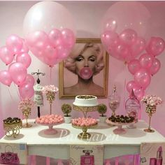 Best Ideas For Birthday Party Pictures Ideas Dessert Tables 25th Birthday Parties, Birthday Bash, Birthday Celebration, Girl Birthday, Birthday Ideas, Surprise Birthday, Marilyn Monroe Birthday, Adult Slumber Party, Party Deco