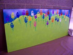 candice ashment art: A Field of Tulips - Hand Art - kindergarten style...