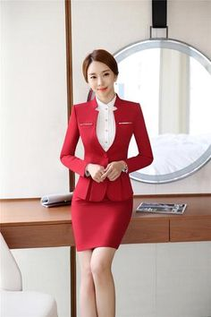 Formal Women Suits Workwear Office Lady Uniform Designs Female Blazer Jacket Business Pant Suits 2019