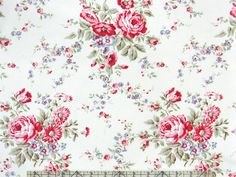 Tanya Whelan Ava Rose Kitchen Rose Bouquets Fabric  | eBay