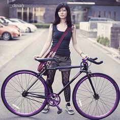Purple bike #cycling