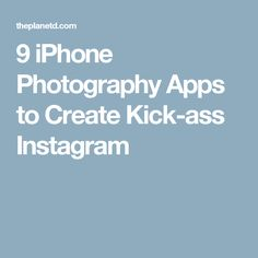 9 iPhone Photography Apps to Create Kick-ass Instagram - Come check out our luxury phone cases. Different styles for every type of personality!