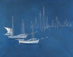 Βασιλείου Σπύρος – Spyros Vassiliou [1903-1985]   paletaart – Χρώμα & Φώς Greece Painting, Street Art, Artist Art, Great Artists, Impressionist, Sailing Ships, Printmaking, Modern Art, Gallery