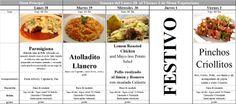 Menú Vegetariano del 28 de Abril al 2 de Mayo de 2014