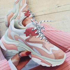 e1fb2e945f1c Ash ADDICT Sneakers Pastel Pink Leather   White Mesh