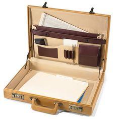The Bamboo Briefcase - Hammacher Schlemmer