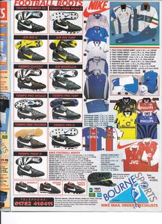 1996 Bourne Sports catalogue