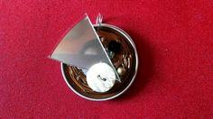 Joli pendentif original nespresso, perles et CD