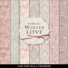Freebies Kit of Backgrounds - Winter Love