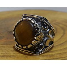 Tiger Eye Stone Ottoman Silver Ring #silver #men #ring #handmade #ottoman #antique #naturale #fashion #new #desing #ruby #turquoise #agat #gemstone #jewelry #jewellers #jewel