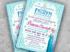 Princess of Arendelle is having her coronation on her birthday! This Listing Includes: 1. 5x7 digital invitation You will NOT receive any