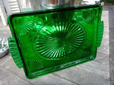 Tray Green Tray Green Glass Art Deco Perfume Tray Dresser