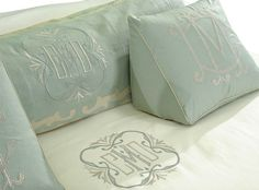 Reading wedge with monogram? Leontine Linens, New Orleans - embroidery Linen Bedding, Duvet, Bed Linens, Leontine Linens, Monogram Bedding, Wedge Pillow, Bed Linen Design, Body Pillow Covers, Pillow Reviews