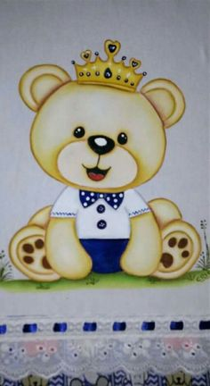 Ursinho teddy Cute Bear Drawings, Animal Drawings, Baby Drawing, Drawing For Kids, Painting Patterns, Fabric Painting, Teddy Bear Pictures, Belly Painting, Friends Wallpaper