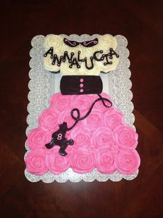 Poodle skirt cupcake cake with buttercream icing and marshmallow fondant decorations!