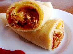 Burrito style crepes