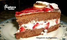Çilekli Muzlu Yaş Pasta Tarifi Vanilla Cake, Tiramisu, Ethnic Recipes, Desserts, Karma, Food, Tailgate Desserts, Deserts, Eten