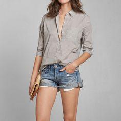 Womens Plaid Pocket Shirt | Womens Tops | Abercrombie.com
