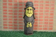 """Halloween Witch woodcarving hand carved and hand painted by MADellinger Wood Carving BHH # 1 of the  """"Everyday People Series"""""""
