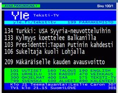 "Finnish text-TV... some smart-alec managed to forge the text telling that our President Niinistö will meet Putin twice this year. Well, in Finnish language there are some real dangers; in this one ""meeting"" has been replaced with ""kill"". It´s just one letter a difference. :D  -  This under title ""Elät vain kahdesti"" = ""You only live twice."""